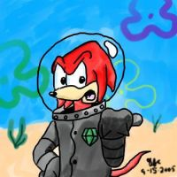 Knuckles in an air suit by spongefox