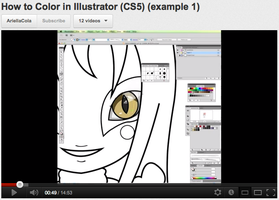 Video - Illustrator Coloring w. Mouse by ColaChu
