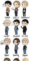 SPN Chibis by Its-All-In-Your-Head