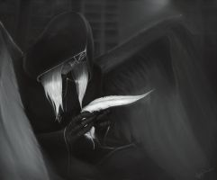 In darkest silence by MightyRaccoon