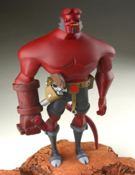 the hellboy sculpt by RM73