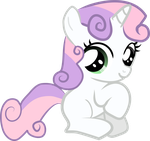 Sweetie Belle - Sitting Pretty by Creshosk