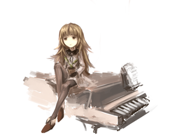 [DeeMo] Piano girl. by ProtoRC