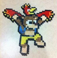 Banjo Kazooie Mega Man-ized bead sprite by Flames2Earth