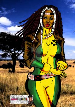 African American Rogue from X-Men by WestIndianRockr