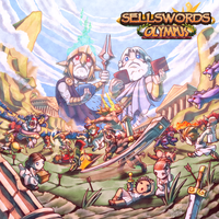 Sellswords Olympus - Cover art by FontesMakua