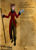 Character Sheet: Arellan by Rayder3d