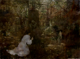 Mourning in the forest by Tellaine