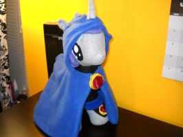 Raven Pony- MLP Plushie Contest with Cloak by digigirl789