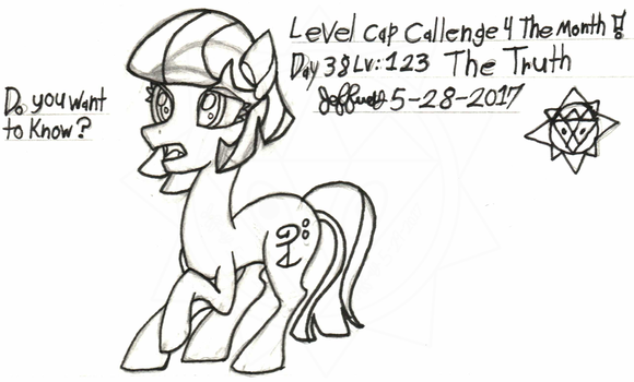 Level-Cap-Challenge-Day-38 Lv123 The Truth by bassmegapokemonlover