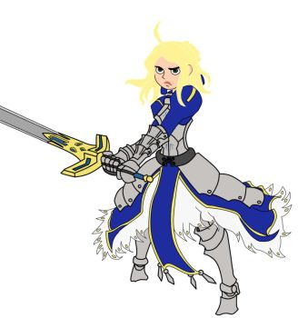 KP Fate/Zero and Fate/Stay Night: KP as Saber by belagus