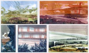 Watercolor Sketches 2 by SebastianWagner