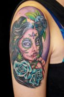 Color Day of the Dead piece complete by danktat