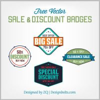 Free Vector Sale and Discount Badges by Designbolts