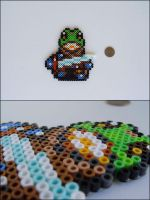 Chrono Trigger Frog (standing) bead sprite by 8bitcraft