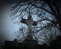 sheltered cross by Gothicmama