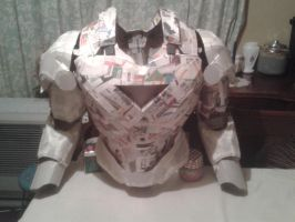 Cardboard Iron Man Costume (Upper Body) by Polonx