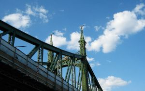 Independence Bridge-Budapest by At0mArt