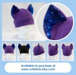 Blue Spiral Galaxy Cat Hat by cutekick