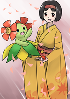Erika and Kireihana (Bellossom) by RyuWarrior