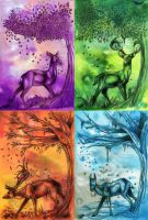 Four Season Deers by Natoli