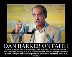 Dan Barker on Faith by fiskefyren