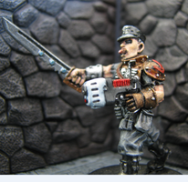 Colonel Schaeffer, WH40K by DrDoSoLittle