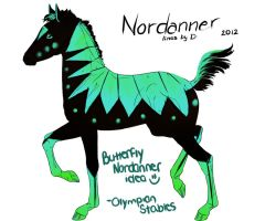 Olympian Stables - Butterfly Nordanner Design by beaublanc