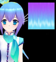MMD FAKE Aoki Lapis Hair Texture DL by lovemikuforever