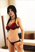 Turning Point WEB - Lara Croft At Home by FearEffectInferno