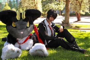 Blue Exorcist - Rin and Kuro by shutter-crazy