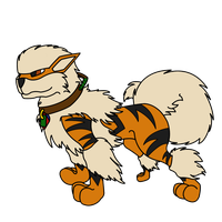 Arcanine - Profile Art by GreyScale9