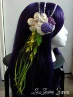 Mermaid Headdress with purple shells by Mermaid-Iona