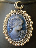 Lady in Blue Orbit Cameo by BacktoEarthCreations