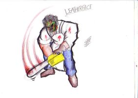 Leatherface by TheIcedWolf