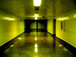 Icky Yellow Hallway vers. 1 by no-kid-guy
