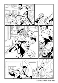 Hulk page 1 (of 3) by Mike-Bunt