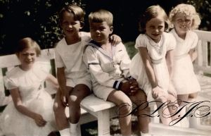 Cousins in 1936 by Linnea-Rose