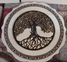 Celtic Tree plate 2 by dppratt