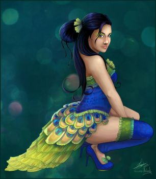 Peacock Showgirl by madam-marla
