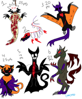 Halloween Adoptables [CLOSED] by LavaSpinosaurus