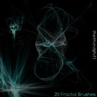 20 GIMP Fractal Brushes by thethiirdshift