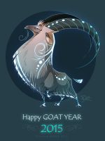 Happy Goat Year by Dragibuz