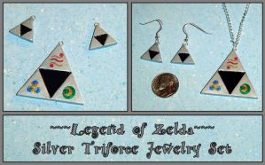 Zelda Silver Triforce Jewelry by YellerCrakka