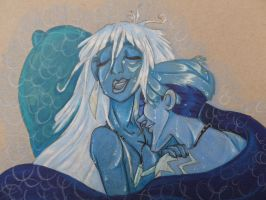 Milo and Kida - Atlantis by FoxDragonLover
