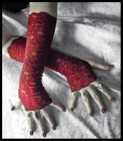Ceara Blood Lace Arm Warmers by ZenAndCoffee