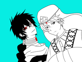 MAGI- Between us by stars-prince