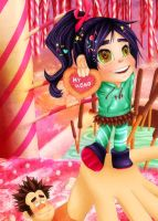 vanellope - my hero by KimmyNyan