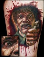 Pulp Fiction Tattoo Samuel L. Jackson by FinlayFish