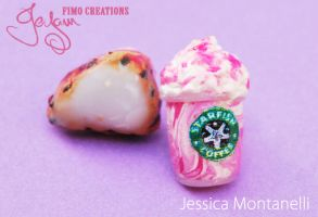 Frappuccino and Scone - Studs by Jeyam-PClay
